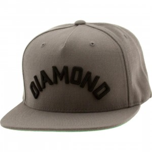 Diamond Supply Co Diamond Arch Snapback Cap (gray)