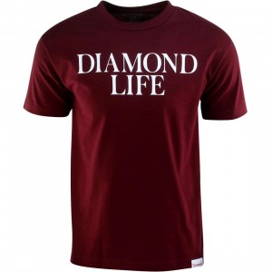 Diamond Supply Co Diamond Life Tee (burgundy)