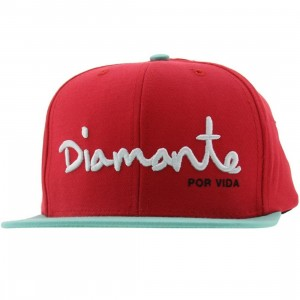 Diamond Supply Co Diamante 6 Panel Snapback Cap (red / diamond blue / white)