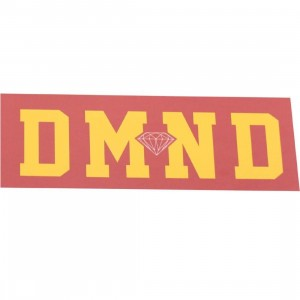Diamond Supply Co DMND Super Sticker (pink / yellow)