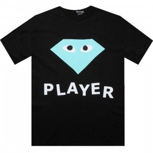 Diamond Supply Co Player Tee (black / diamond blue)