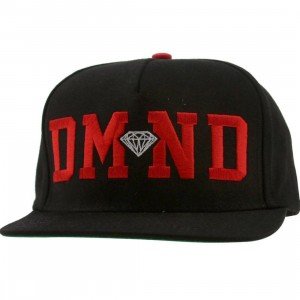 Diamond Supply Co DMND Snapback Cap (black / red / white)