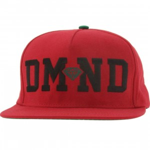 Diamond Supply Co DMND Snapback Cap (red / black / green)