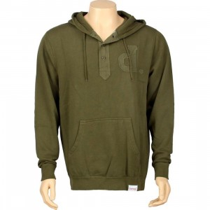 Diamond Supply Co Un-Polo Henley Hoody (army)