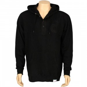 Diamond Supply Co Un-Polo Henley Hoody (black)