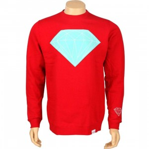 Diamond Supply Co Big Brilliant Crewneck (red)