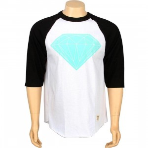 Diamond Supply Co Big Brilliant Raglan Tee (white / black)