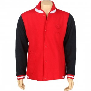 Diamond Supply Co 1998 Emblem Fleece Varsity Jacket (red / blue / white)