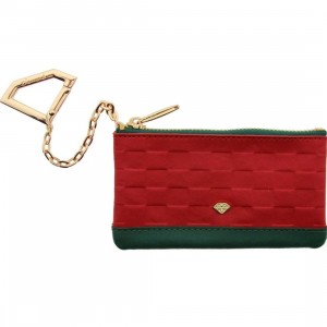 Diamond Supply Co Crock And Leather Chain Wallet (red / green)