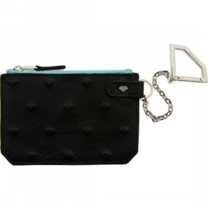 Diamond Supply Co XL Diamond Skin Chain Wallet (black / diamond blue / silver)
