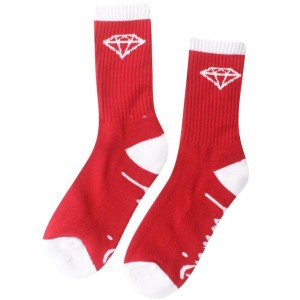 Diamond Supply Co 3 Pack O.G. High Cut Socks (red / white) 1S