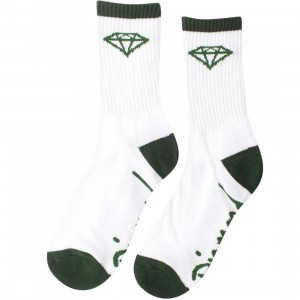 Diamond Supply Co 3 Pack O.G. High Cut Socks (white / green) 1S