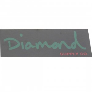 Diamond Supply Co O.G. Script Sticker (black / green)