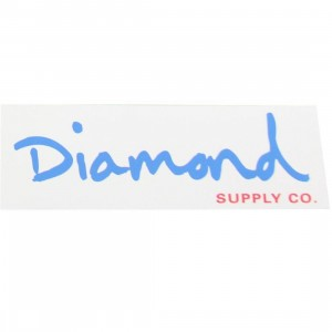 Diamond Supply Co O.G. Script Sticker (white / blue)