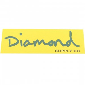 Diamond Supply Co O.G. Script Sticker (yellow / green)