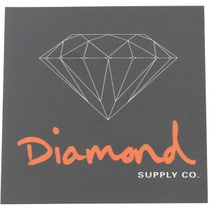 Diamond Supply Co O.G. Sign Sticker (black / orange)