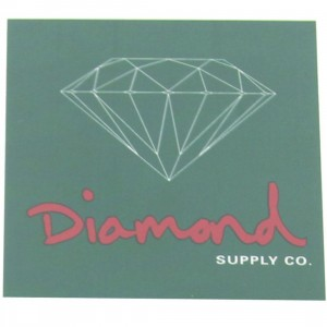 Diamond Supply Co O.G. Sign Sticker (green / red)