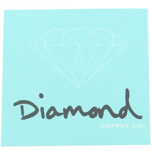 Diamond Supply Co O.G. Sign Sticker (diamond blue / black)