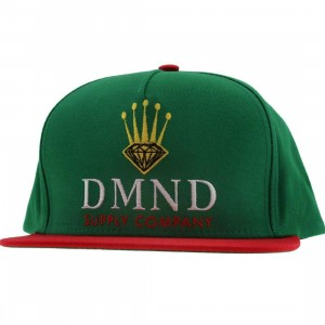 Diamond Supply Co Rollie Snapback Cap (green / red)