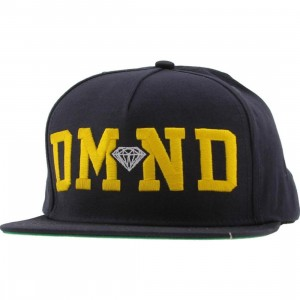 Diamond Supply Co DMND Snapback Cap (navy / yellow / white)