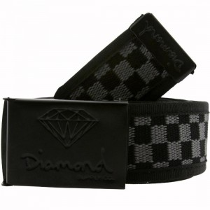 Diamond Supply Co OG Scout Belt (check black / charcoal)