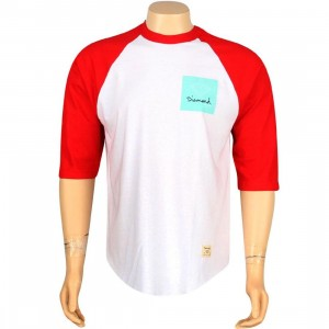 Diamond Supply Co OG Sign Raglan Tee (white / red)