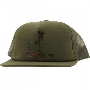 Diamond Supply Co Un-Polo Camo Mesh Snapback Cap (army)