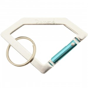 Diamond Supply Co Carabiner Rock Keychain (silver / diamond blue)