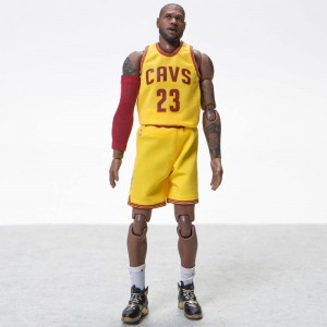 NBA x Enterbay Lebron James 1/9 Scale 9 Inch Figure (yellow)
