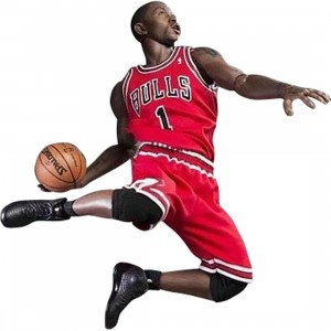 NBA x Enterbay Derrick Rose 1/6 Scale 12 Inch Figure (red)