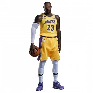 NBA x Enterbay LA Lakers LeBron James Real Masterpiece  1/6 Scale Figure (yellow)
