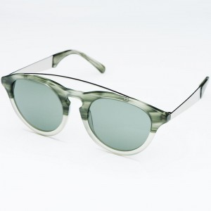 Established MMXII Amos Sunglasses (black / vert)