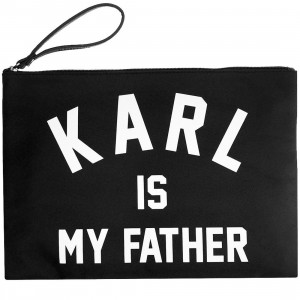 Eleven Paris Karl Is My Father Flaty Bo Clutch (black)