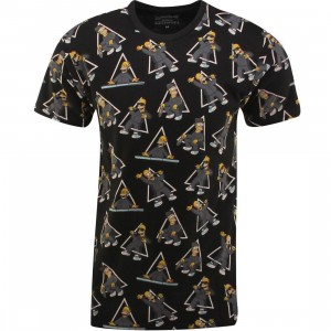 Eleven Paris x The Simpsons Alhom M Tee (black / olombis print)