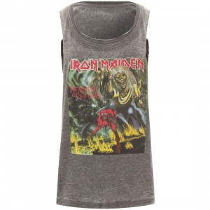 Eleven Paris x Iron Maiden Women Iron4 Crop Tee (gray / black)