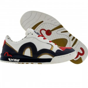 Evisu Sumera (white / navy / gold / red)