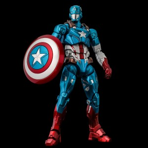PREORDER - Sentinel Fighting Armor Marvel Captain America Figure (blue)