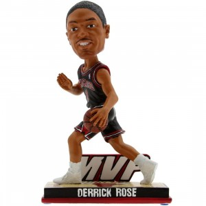 Forever Collectibles NBA Derrick Rose MVP Action Bobble Head (black)