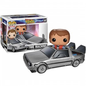 Funko POP Rides Back To The Future - Delorean Vinyl Figure (silver)