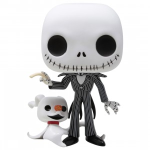 Funko POP Disney Nightmare Before Christmas 10 Inch Jack With Zero (white)