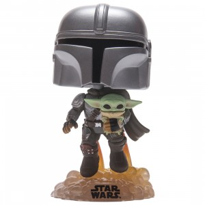 Funko POP Star Wars The Mandalorian - The Mandalorian With The Child (silver)