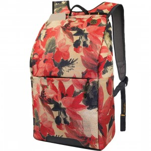 Focused Space Ivy League Backpack (black / floral)