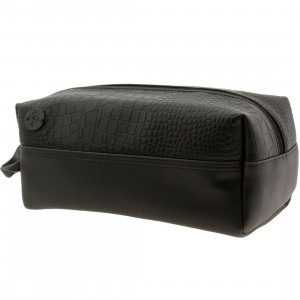 Focused Space The Veneer Dopp Kit Bag (black / crocodile)