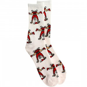 40s and Shorties Mrs Clause Twerk Socks (white) 1S