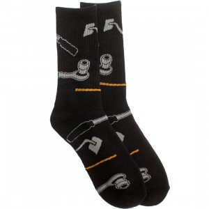 40s and Shorties Ratchet Hoes Socks (black) 1S