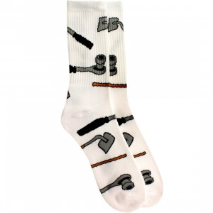 40s and Shorties Ratchet Hoes Socks (white) 1S