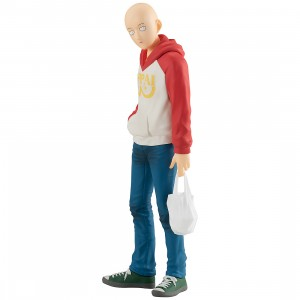 PREORDER - Good Smile Company Pop Up Parade One Punch Man Saitama Oppai Hoodie Ver. Figure (beige)