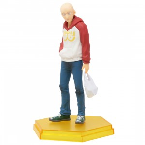 Good Smile Company Pop Up Parade One Punch Man Saitama Oppai Hoodie Ver. Figure (beige)