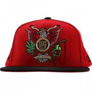 Gold Trust Starter Snapback Cap (red / black)