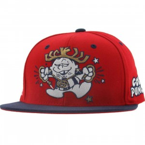 Gold Punch Starter Snapback Cap (red / navy)